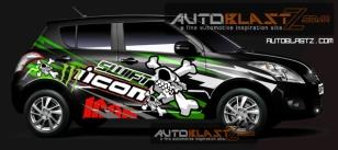 New Suzuki Swift black skull icon1