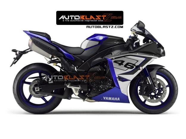 yamaha R1 racing blue1