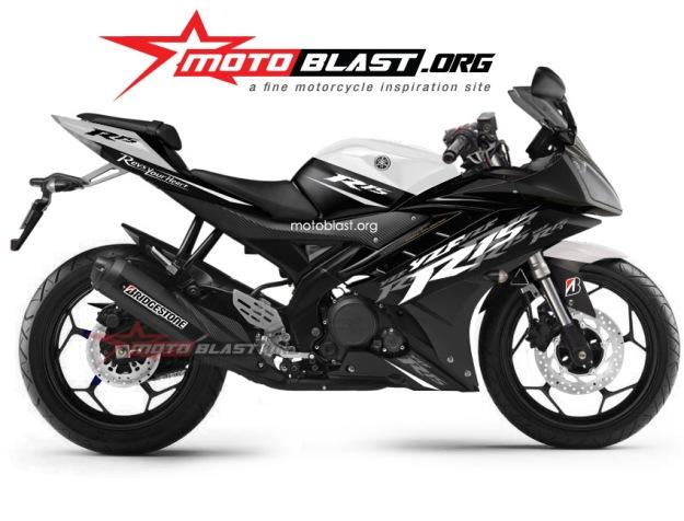 yamaha R15 black white simple3