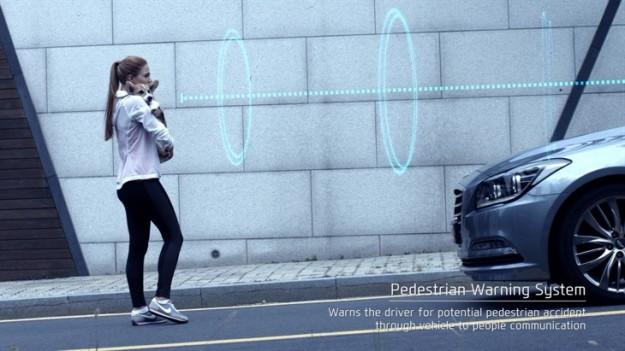 Hyundai's Pedestrian Warning System