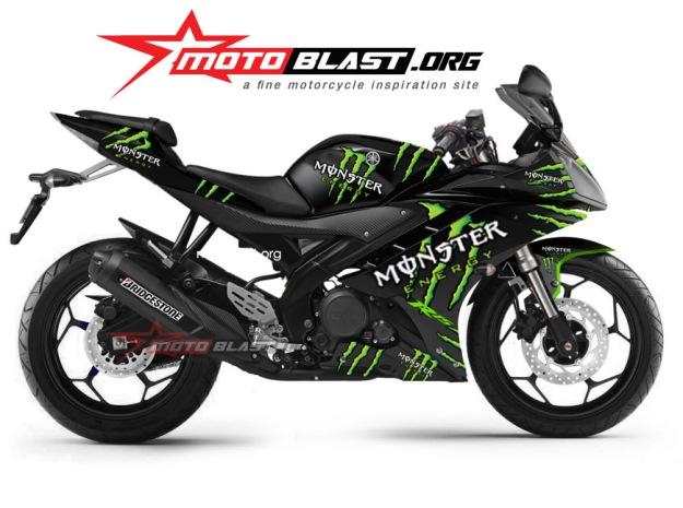 yamaha R15 BLACK MONSTER-MOTOBLAST