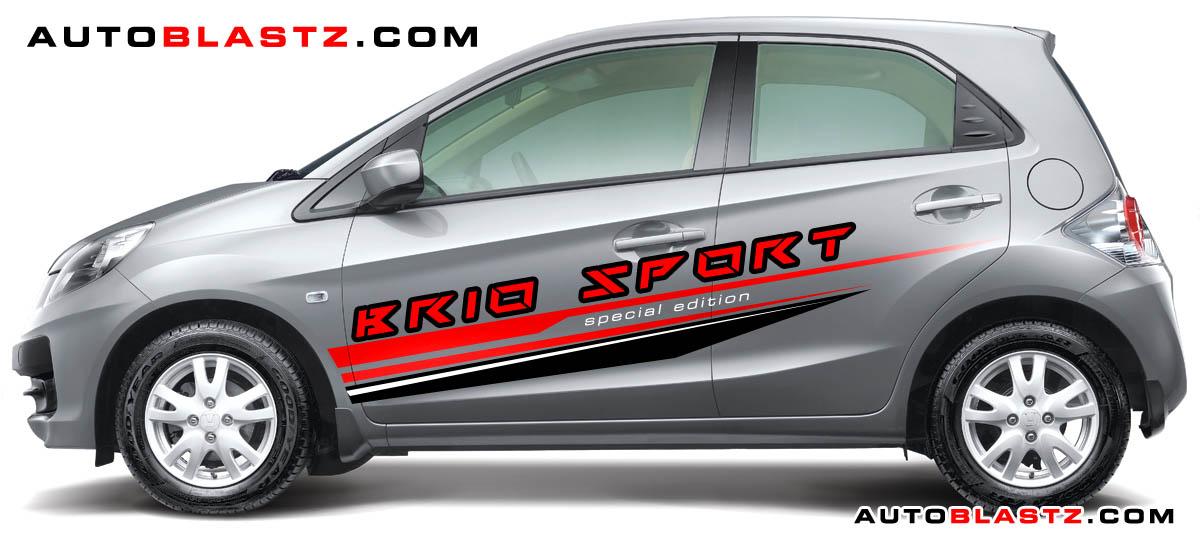 Striping Sporty Untuk Honda BRIO Silver