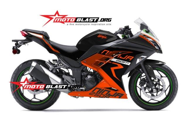 ninja 250 ORANGE-KTM RACING NEW2