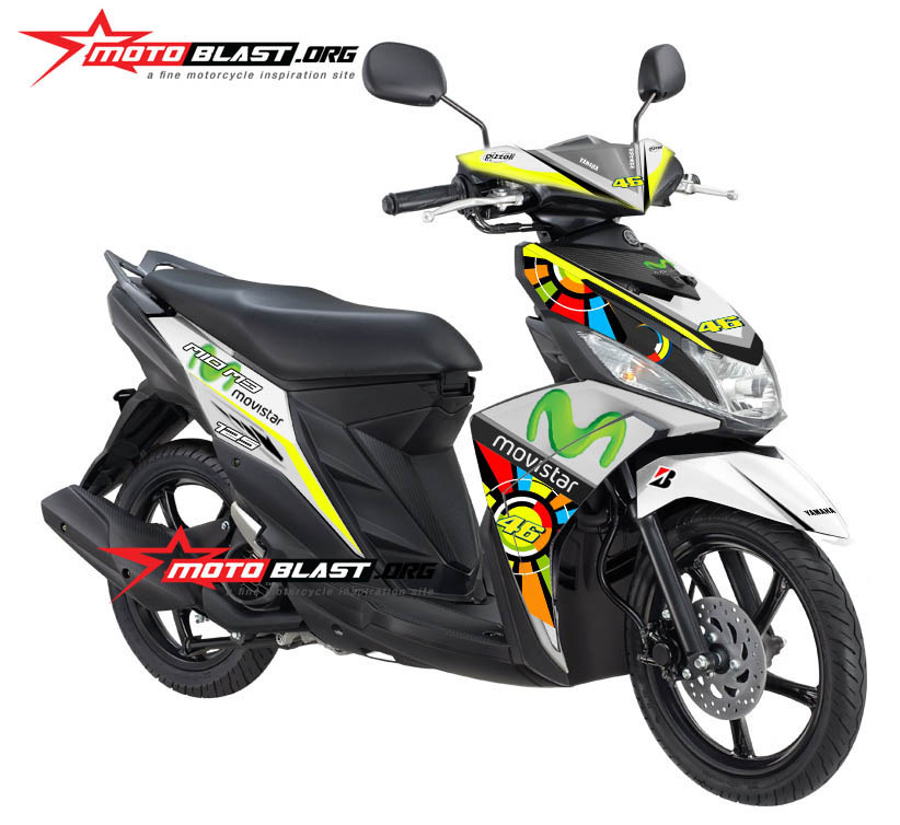 modifikasi striping mio m3 terkeren