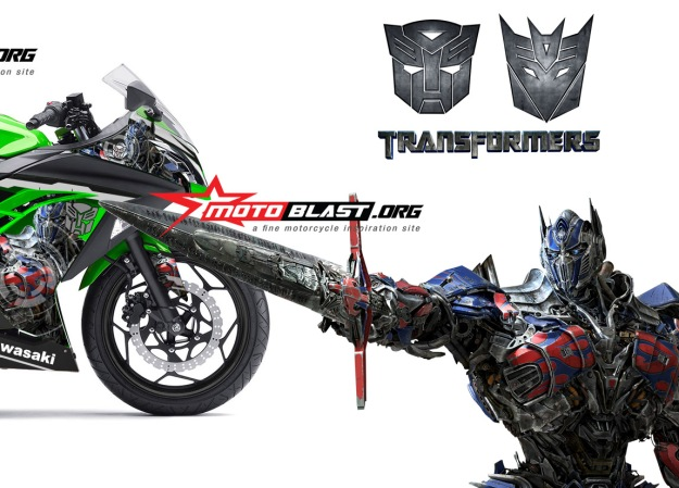 ninja 250 FI green transformer -optimus prime3