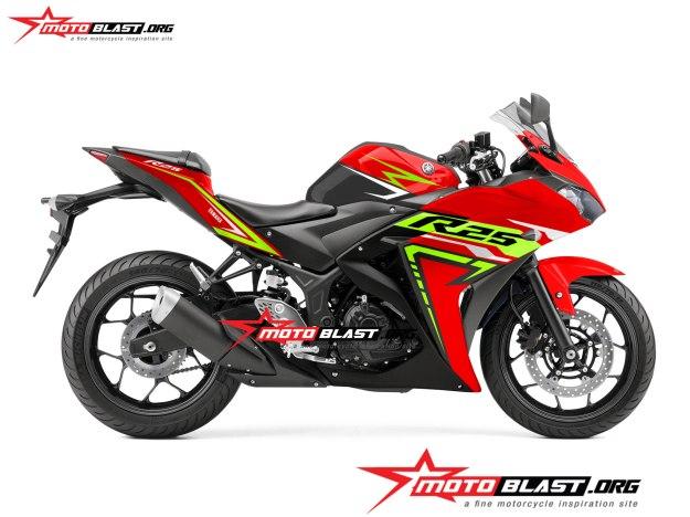 modifikasi Yamaha R25 REd Thunder