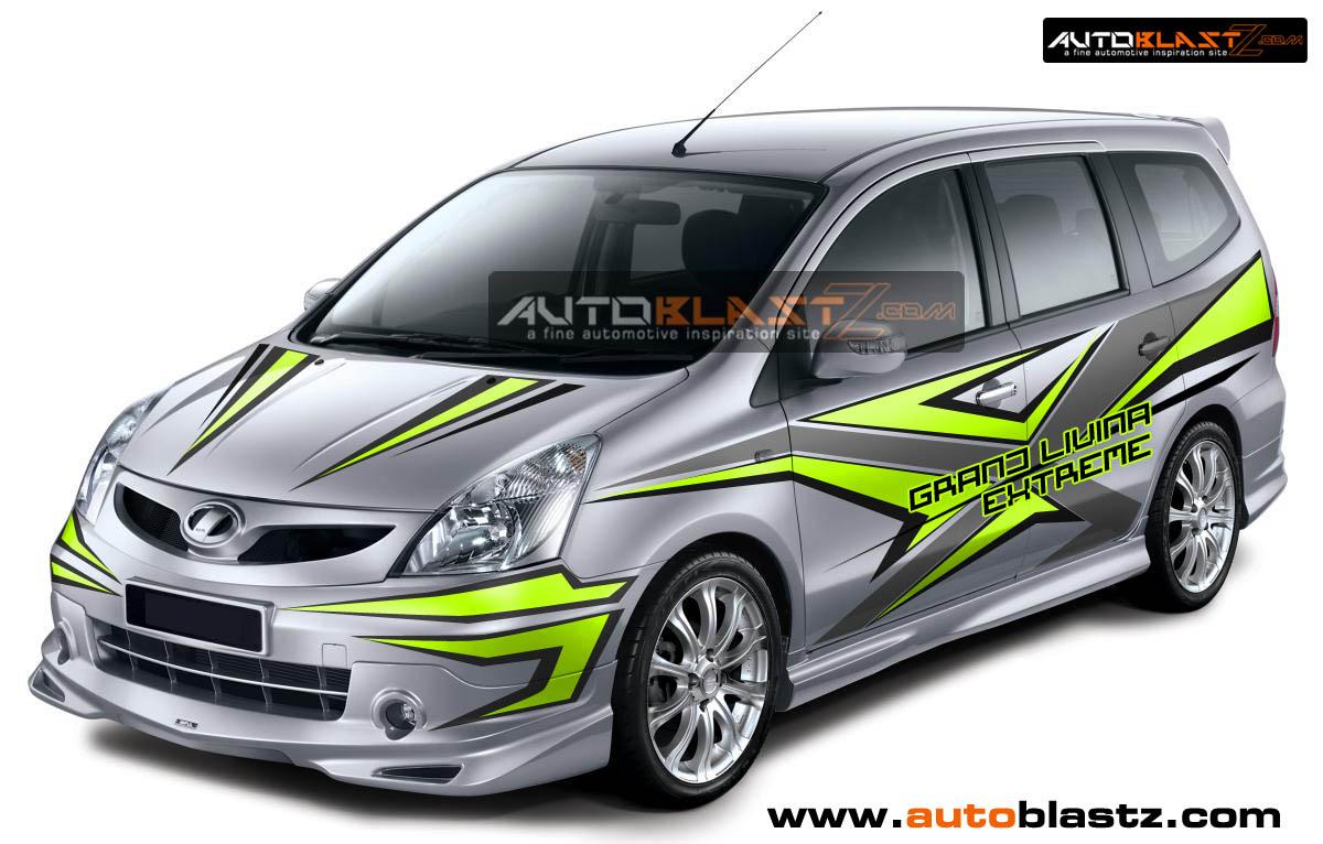 CAR SERIES : Modifikasi striping Mobil JAZZ White Joss ...