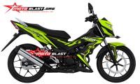 modifikasi honda sonic 150r black green lemon thunder ICON motoblast