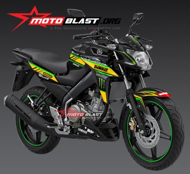 modifikasi yamaha new vixion advance black tech3 new style