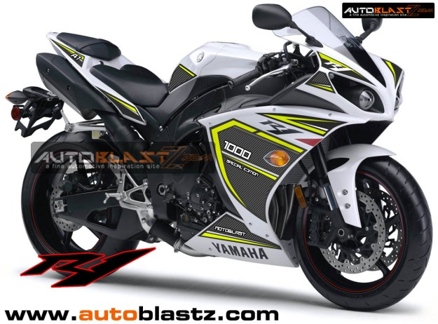 YAMAHA R1 WHITE BLACK SUPER CARBON2